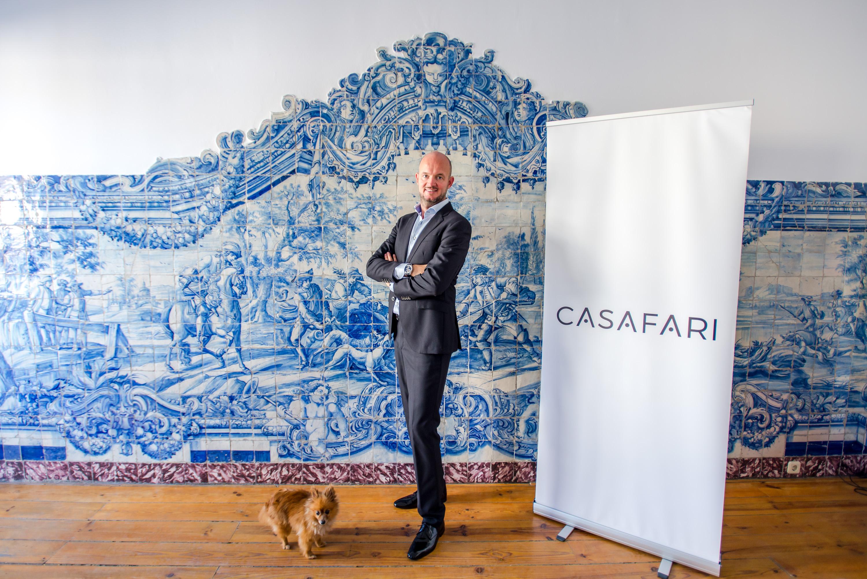 Nils Henning, co-founder de Casafari, en su oficina